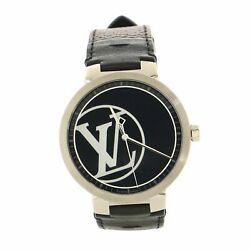 Louis Vuitton Tambour Slim Quartz Watch Limited Edition Stainless Steel And