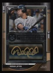 2021 Derek Jeter Topps Museum Collection Game Used Bat Auto Autograph 1/5