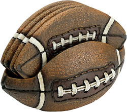 Football Coasters Set Includes 4 Football Coasters For Drink. Vintage Sports Ho