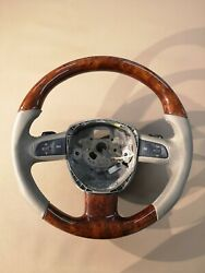Audi A6 Wood Steering Wheel Complete Switches Audi S6 A6 S7 C7 Oem 13-17