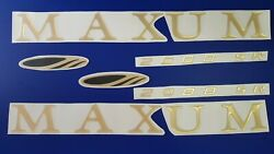 Maxum Boat Emblems 30 Gold + Free Fast Delivery Dhl Express - Raised Decals