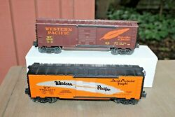 Lionel 6464-1995 And K-line 648102 Wp Western Pacific Boxcars