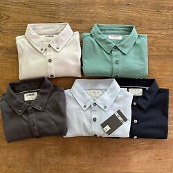 Lot Of Five Nwot Linksoul Men's Golf Polo Style Shirts Size Small Short Sleeve