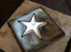 15 To 1 Silverworks Poured 999 Silver Star With Buckskin Pouch 7.06 Ozs [lot 2]