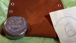 15 To 1 Silverworks 999 Poured Silver Round With Buckskin Pouch 3.96 Ozs Lot 6