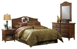 Tropical 6 pc Set Hospitality Rattan Cancun Palm Complete King Bedroom Exc Cond