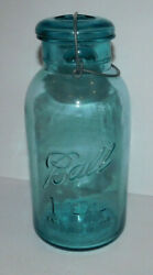 Beautiful 2 Quart Ball Ideal Canning Jar With Bale And Glass Lid Error Missing D