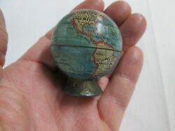 Antique World Globe Pencil Sharpener Made In Germany