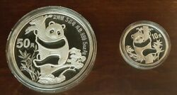 1987 Chinese Panda Silver Proof Set 5 Oz And 1 Oz Proof One Of Only 23000 Made