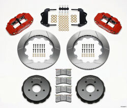 Wilwood Narrow Superlite 6r Front Hat Kit 14.00in Red For 2004-2006 Pontiac Gto