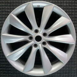 Tesla S All Silver 21 Inch Oem Wheel 2012 To 2017