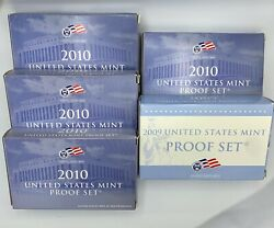 1 2009 4 2010 United States Mint Proof Sets - With Coa