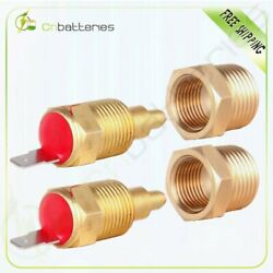 2pcs Universal 185 Degree Radiator Engine Cooling Fan Thermostat Switch With Cap