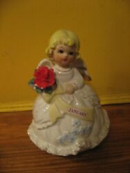 Other Music Boxes Can Hold A Candle To Vtg January Angel Happy Birthday 6 Tall