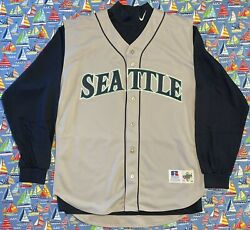 Rare Vintage Russell Athletic 1998 Mlb Seattle Mariners Ken Griffey Jr Jersey