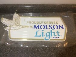 Molson Light Beer - Menu/logo Sign Board - Nos With Letters -geese Gw