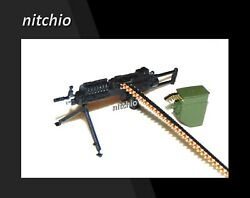 1/12 Scale Weapon Andndash Saw Machine Gun With Ammo Case Ammo Belt And Bipod