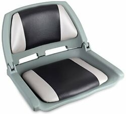 Leader Accessories Molded Fold Down Boat Seat Gray/charcoal