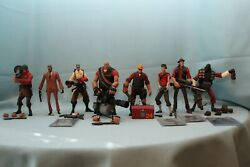 Neca Team Fortress Red Lot Of 8 Heavy Soldier Demoman Spy Engineer Scout Sniper