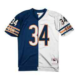 Mitchell And Ness Chicago Bears Walter Payton 1985 Split Home And Away Legacy Jersey