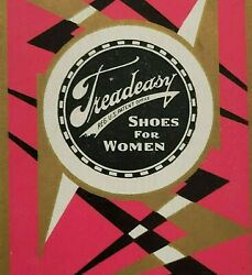 Single Swap Playing Card Art Deco Vtg Advertising Tread Easy Shoes Jack Of Heart