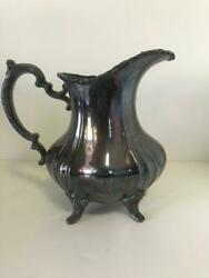 Vintage Lancaster Rose Silver-plated Pitcher Epca 401 By Poole