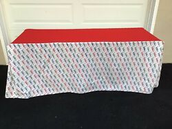 """Vtg Hess's Department Store Display Cotton Tablecloth 68"""" X 23"""" Allentown Pa"""