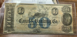 Lrm8321 - Canal And Banking Co Note New Orleans Fifty Dollars