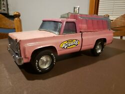 Vintage Nylint Kennels Truck. 1970s Pink Square Body Chevrolet Pickup. Rare