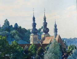 Watercolour/landscape And Church Orthodox Signed Dated 33 Cole Russia Russian