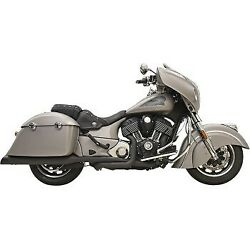 Bassani Black True Dual Performance Exhaust System For 14-20 Indian Chieftan