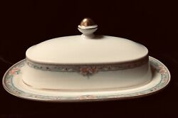 Mikasa Japan Fine Ivory La Rose Lac75 Butter Dish With Cover New Vintage