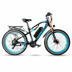 Blue Cyrusher Xf900 Full Suspension 750w Fat Tire Electric Bicycle Used