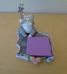 Whimsiclay Cat By Amy Lacombe Memo Pad Holder Butterfly Note Post It 2001 New