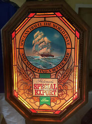 Special Export Beer Heilemans Ship And Water Motion Moving Light Up Sign Free Ship