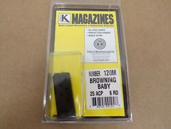 Browning Model Baby Browning 25 Acp 6 Rd Magazine By Triple K 120m