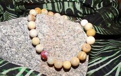 Artisan Beaded Fossil Coral Bracelet-w/925 Sterling Silver Lobster Clasp