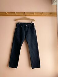 Arts And Science Japan Black Slim Button Fly Mid Rise Jeans Denim Pants 28 Womens