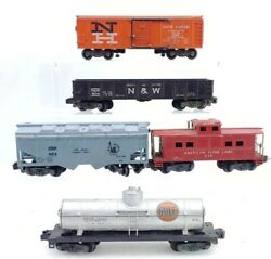 5 American Flyer Trains 804, 924, 925, 938 And 984 Freight Cars S Gauge