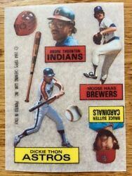 Bruce Sutter Cardinals Dickie Thon Astros Moose Haas Brewers Rub Downs Card