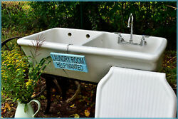 1936 Fords Vintage 3-piece Large Farmhouse Antique Country Laundry Sink We Ship