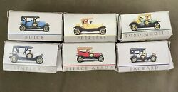 Lot Of 6 Vintage 1994 Readers Digest Antique 164 Toy Cars W/ Boxes