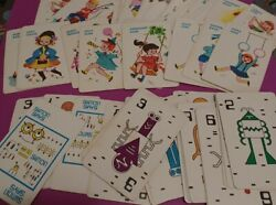 Vintage Assorted Incomplete Old Maid And Simon Says Playing Cards