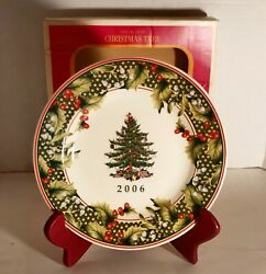 Spode Christmas Tree 2006 Annual Collector Plate Star Border 7.75