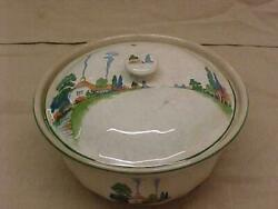 Harker Hotoven Chinaware Roasting / Casserole Pot And Lid Countryside Pattern