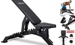 Deluxe Adjustable Weight Bench For Full Body Workout, Weight Capacity 1100