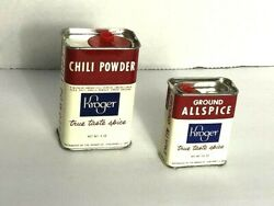 Vintage Spice Tins Kroger Allspice And Chili Powder Display Only Old Spices