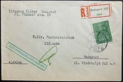 Wwii/holocaust 1944 Hungarian Jewish Radio License Reporting Registered Cover