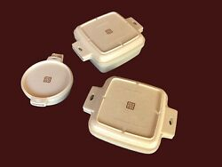 Vintage 6 Pc Littonware Cookware Set Microwave Oven Casserole Dishes And Lids