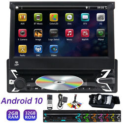 7 Android 10 Single 1din Car Stereo Radio Gps Wifi Dvd Carplay Touch Screen Fm